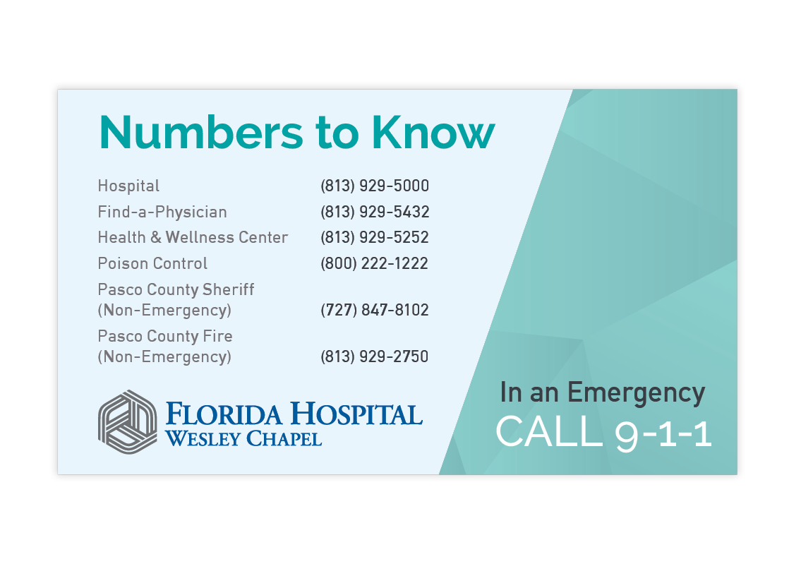 Florida Hospital Wesley Chapel New Mover Campaign